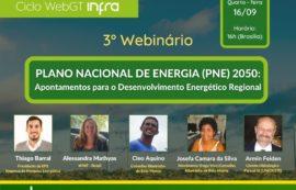 GT Infraestrutura realiza webinar para discutir Plano Nacional de Energia 2050